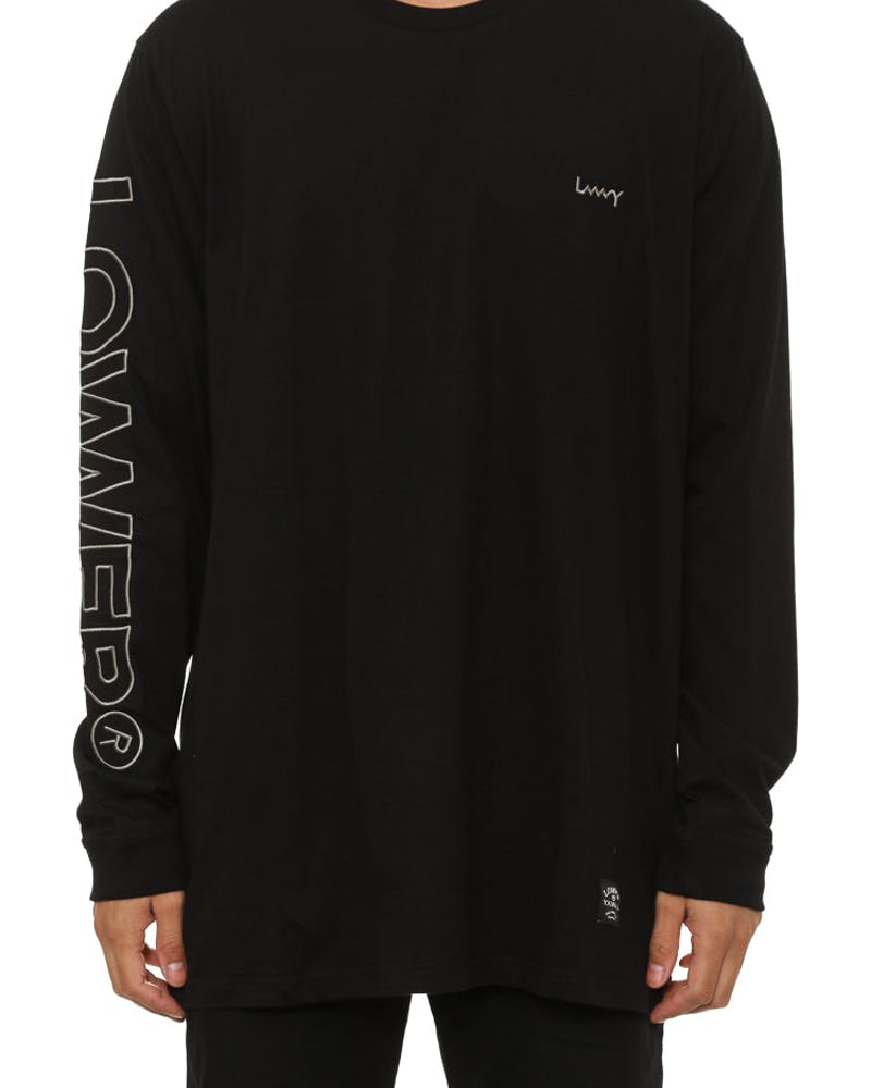 Riverside Qrs L/sleeve Tee Black