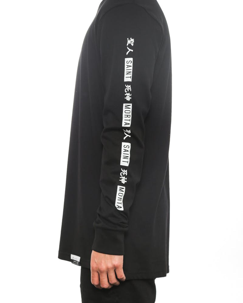 Saint Long Sleeve Top Black