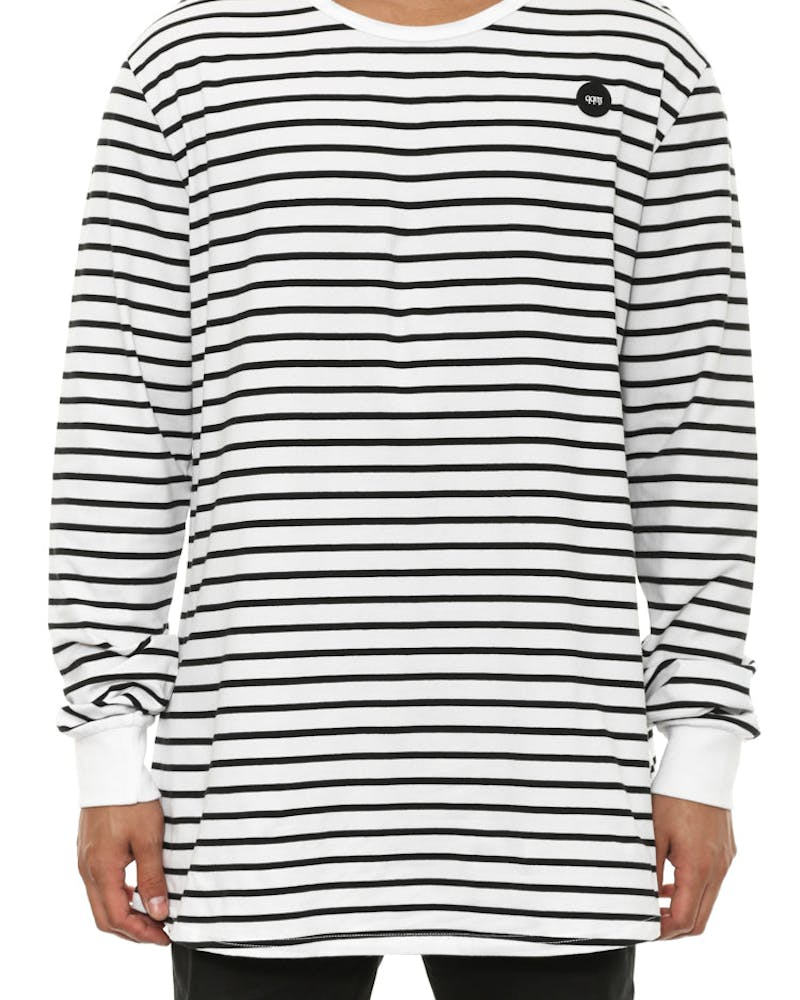 Zero Stripe Long Sleeve Tee White/black