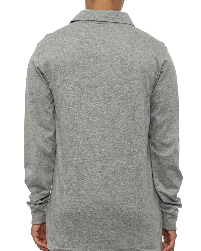 Gators Patch Long Sleeve Polo Grey Heather