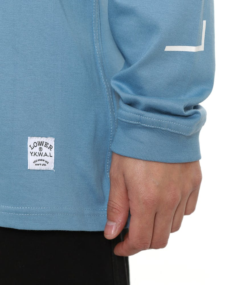 Zeit Qrs Long Sleeve Tee Light Blue
