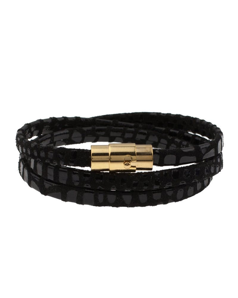 Trifecta Bracelet Black/gold