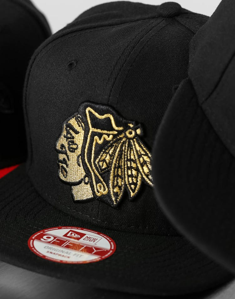 Blackhawks Orig.fit Snapback Black/metallic