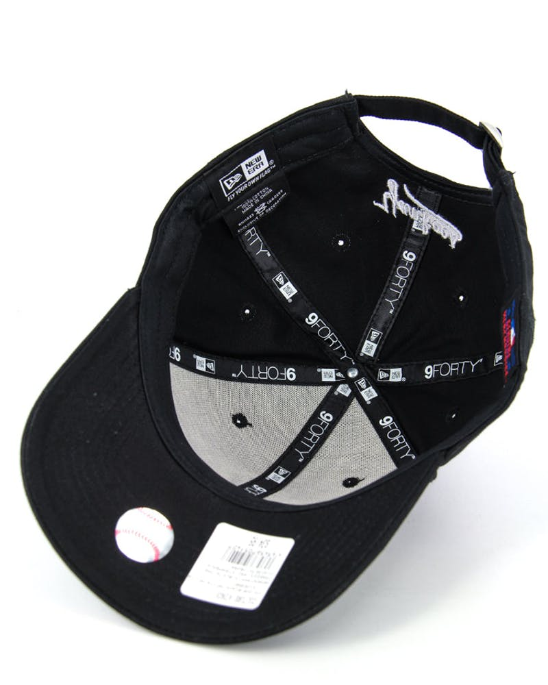 New Era Yankees 9FORTY Strapback Black/white/whi