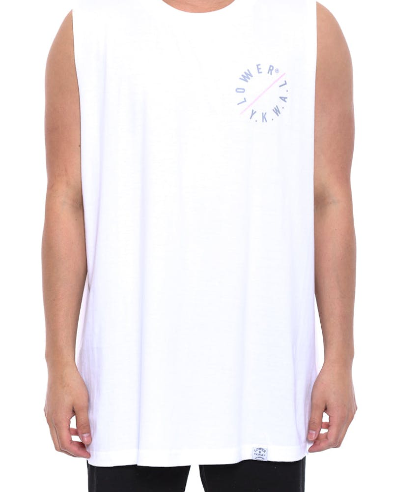 Slash Cut Tank White
