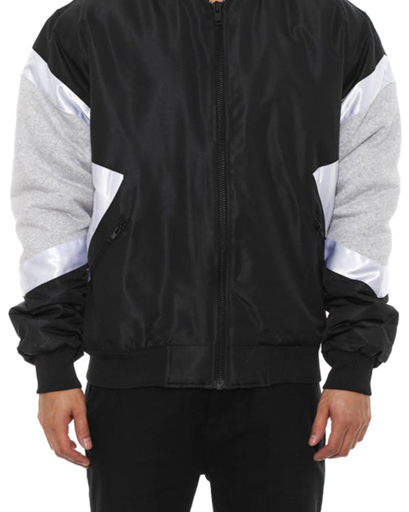 Cross Bomber Jacket Black/grey/whit