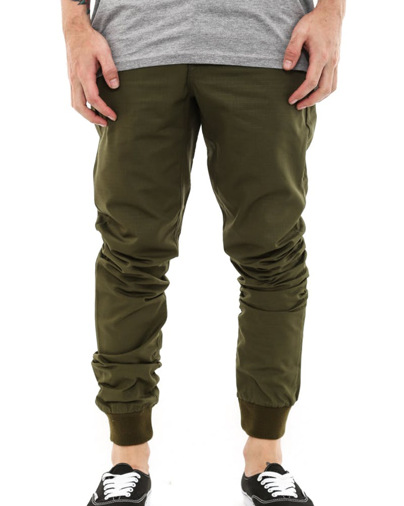Jogger Fit Ripstop Olive/brown