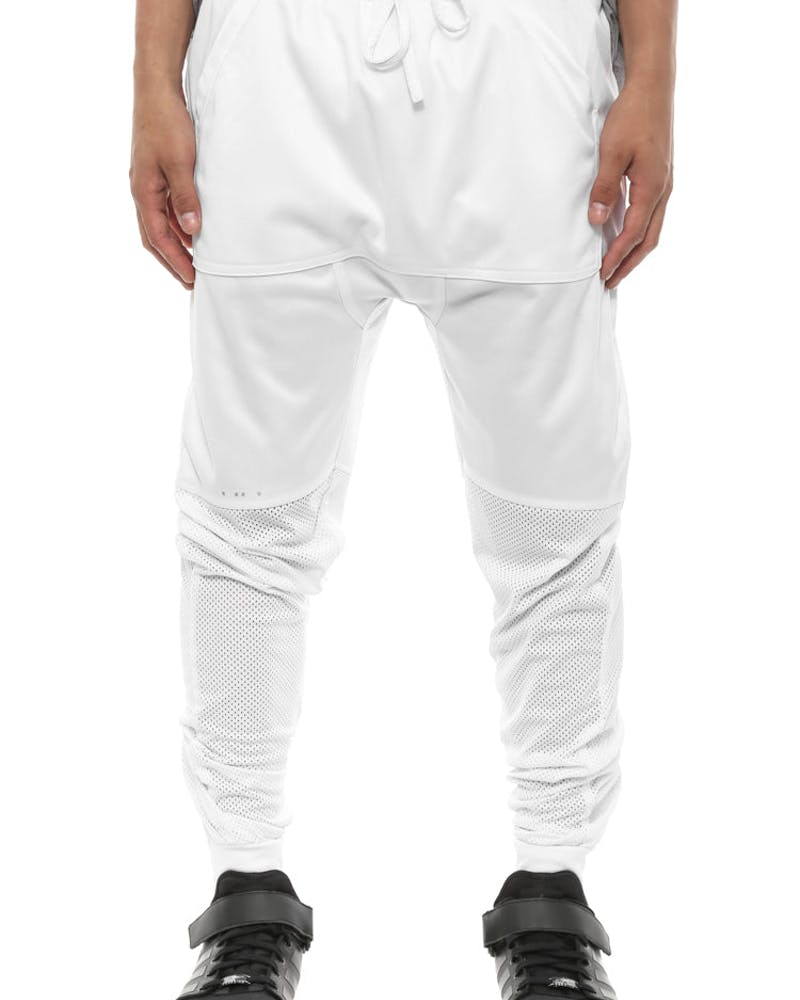 Olwin Slouch Jogger Pant White