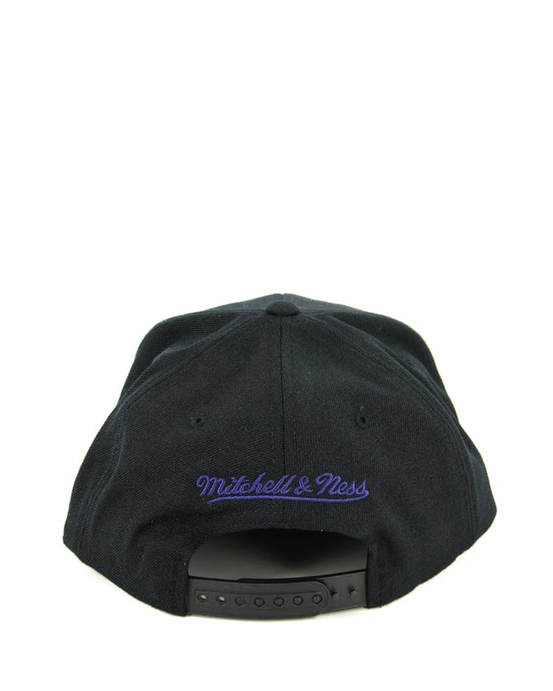 Hornets Wool Solid Snapback Black