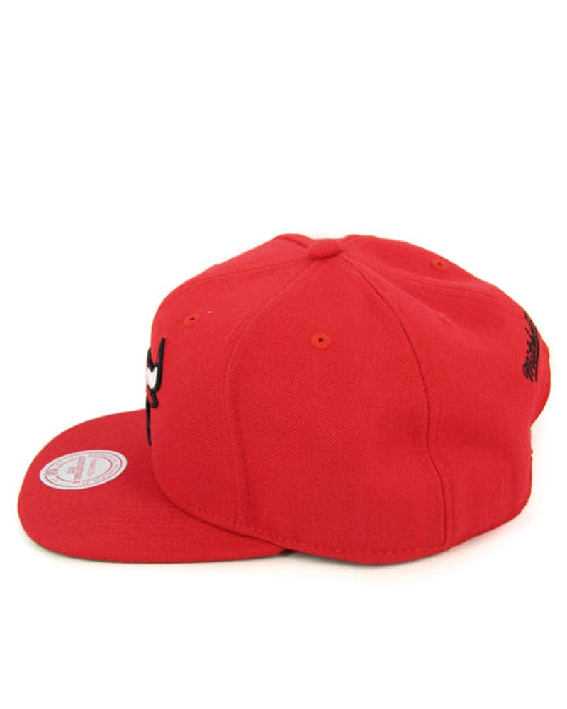 Bulls Team Logo Wool Snapback Red/red