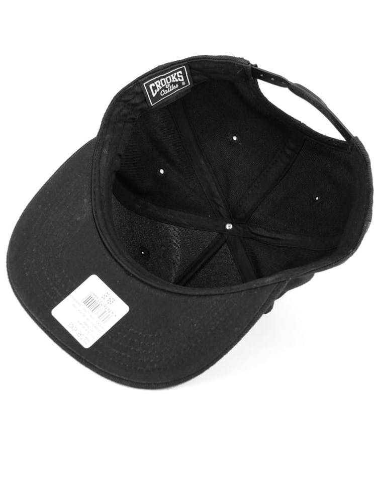 Crooks Gun Logo Snapback Black