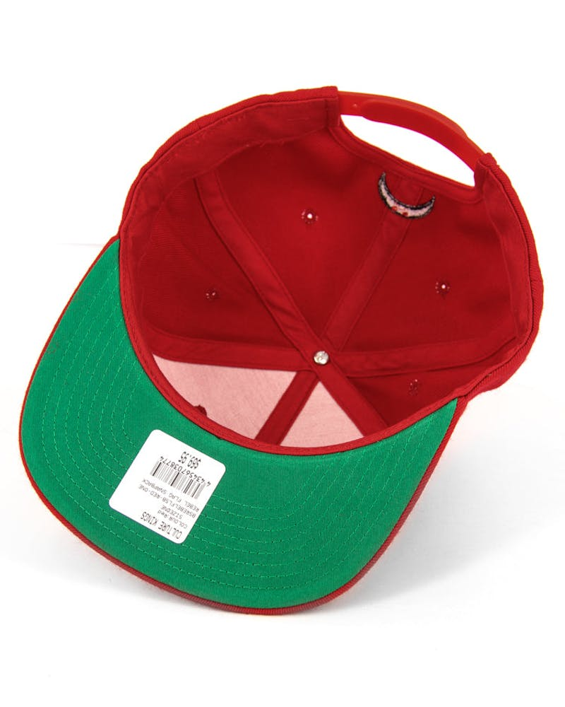 Rebel Flag Snapback Red