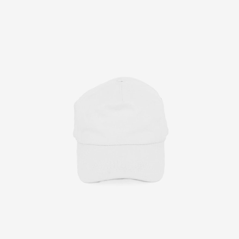 Captain Precurved Snapback White