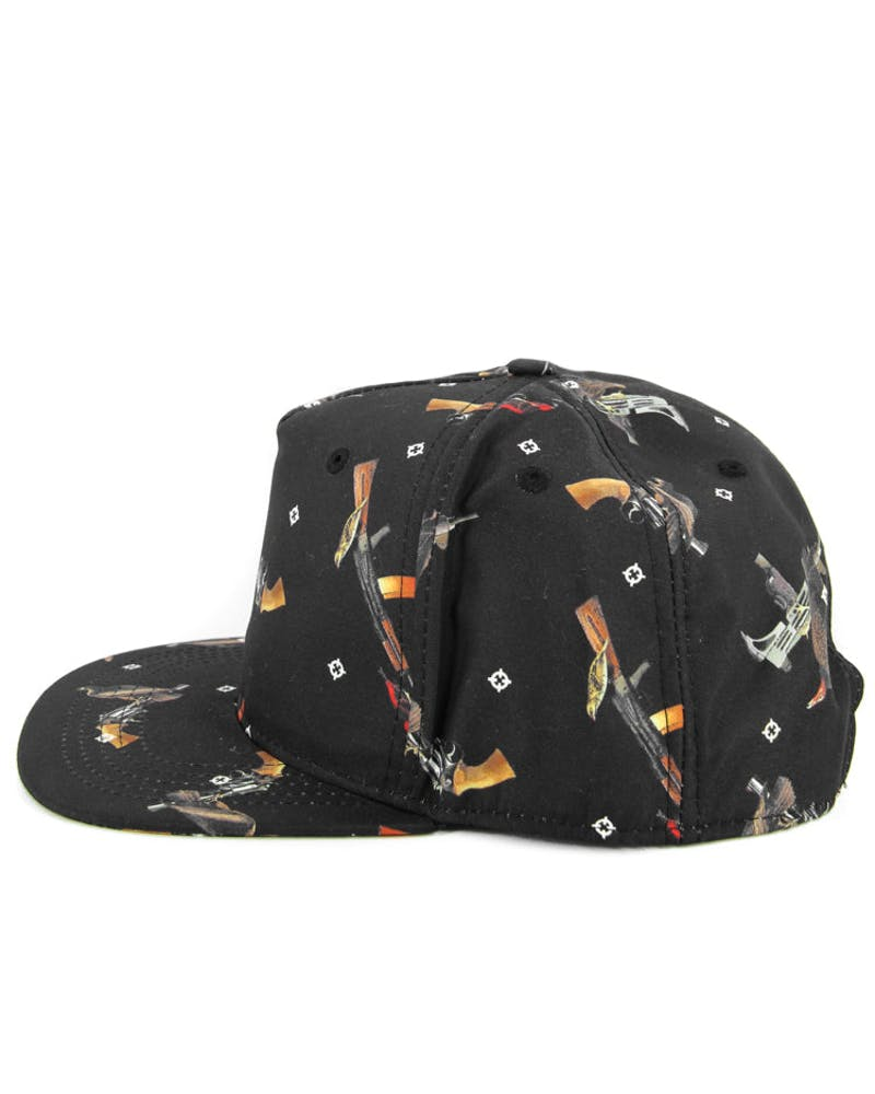 Bird Trap Snapback Black