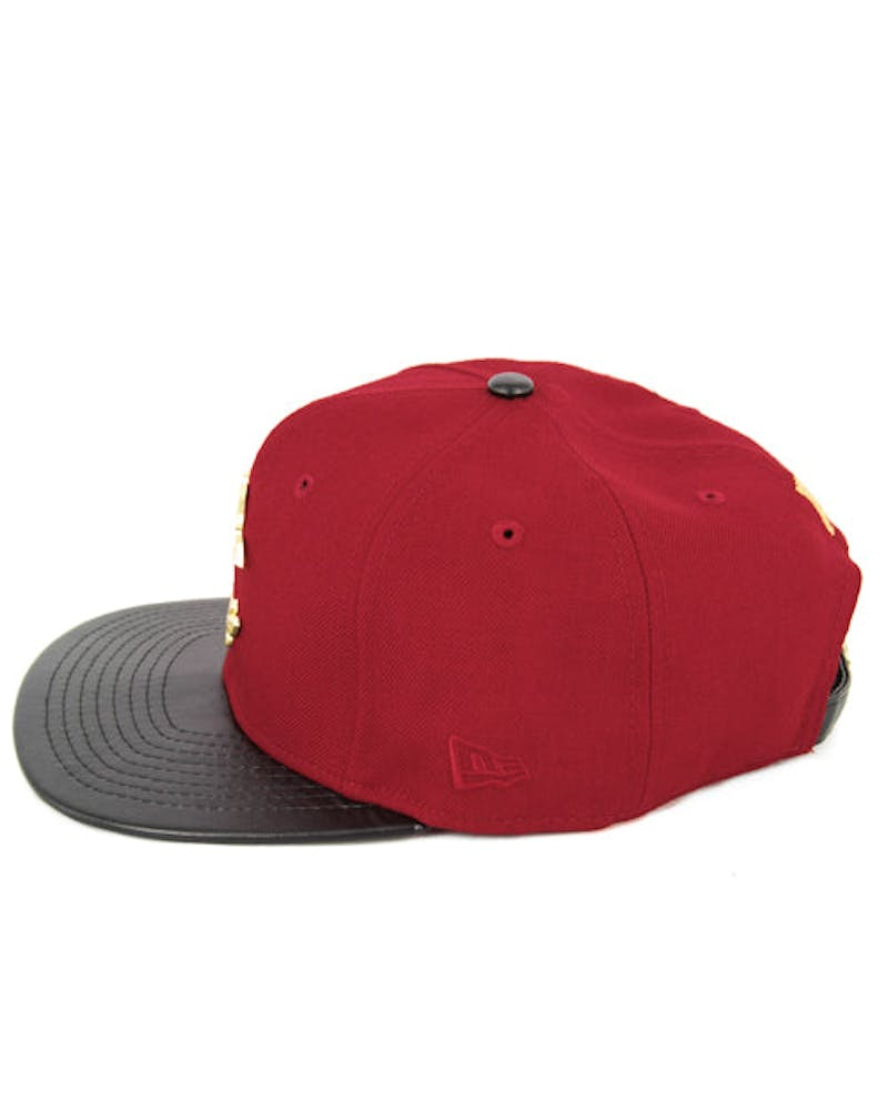 Thuxury Chain C Leather Strap Back Red/black