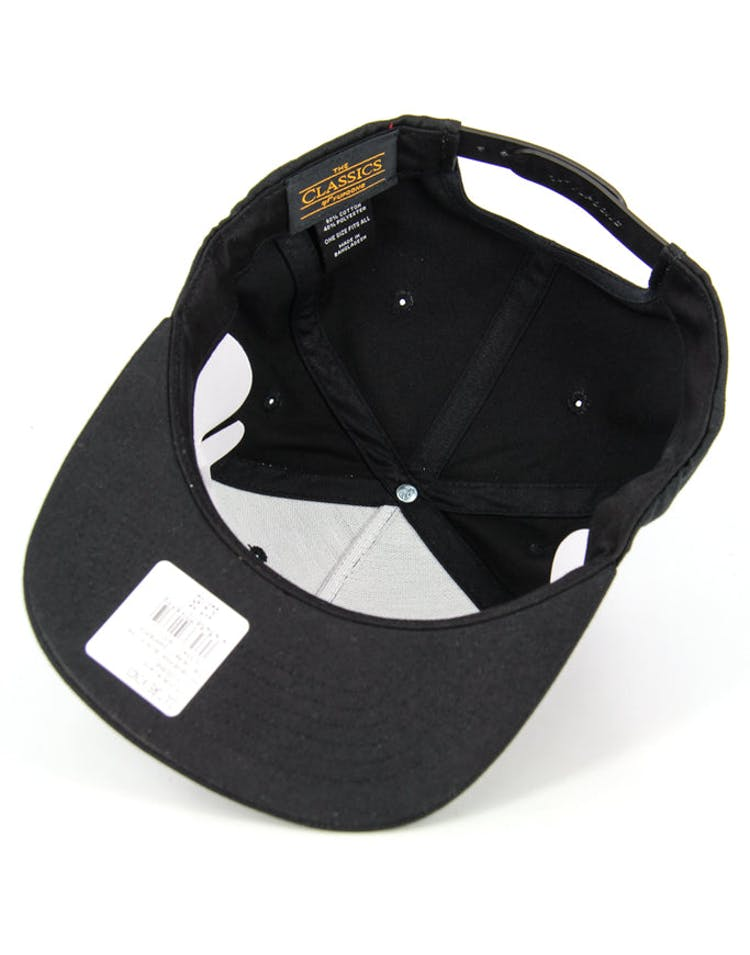 the Heart Snapback Black