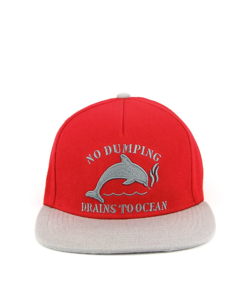 Dolphin NO Dumping Snapback Red