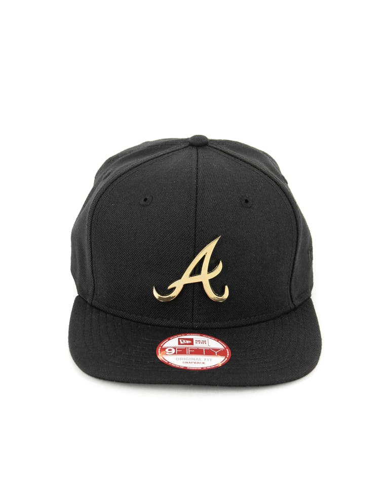 Braves Orig.fit Metal Snapback Black/gold