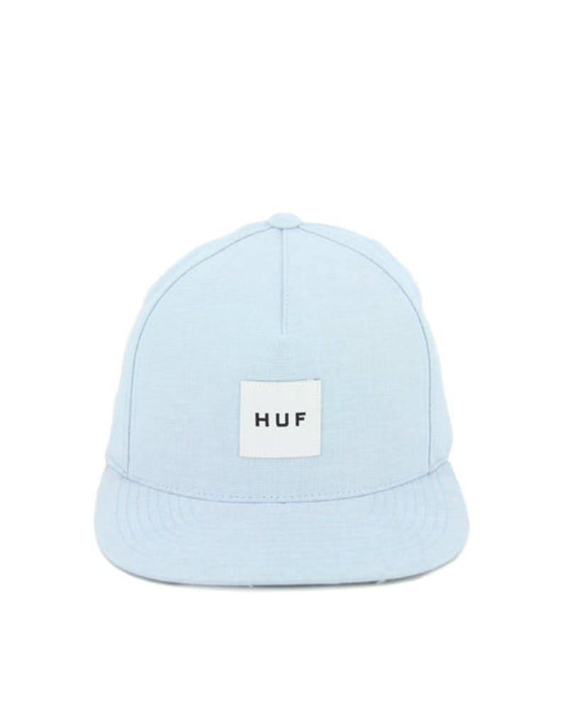 Chambray Box Logo Snapback Blue