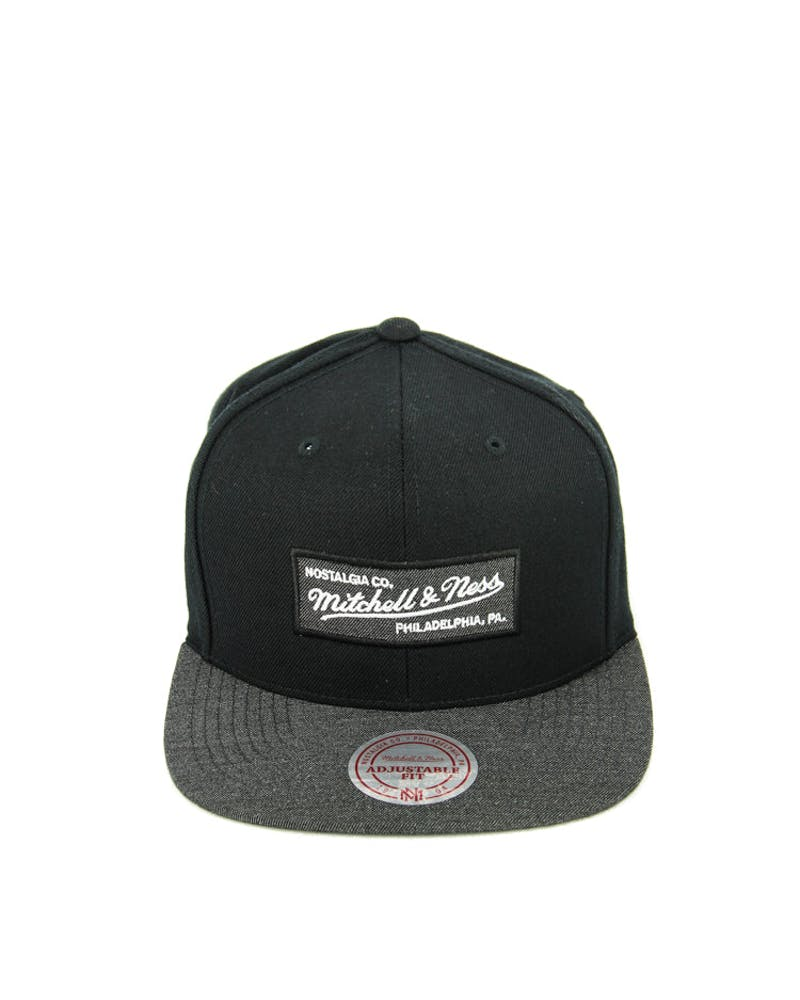M&n Heather 2 Tone Snapback Black Heather/g