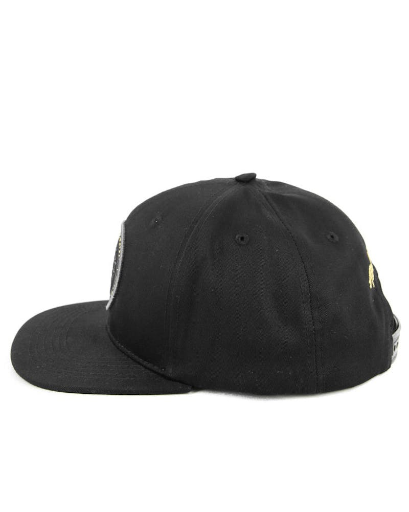 Gold Seal Snapback Black