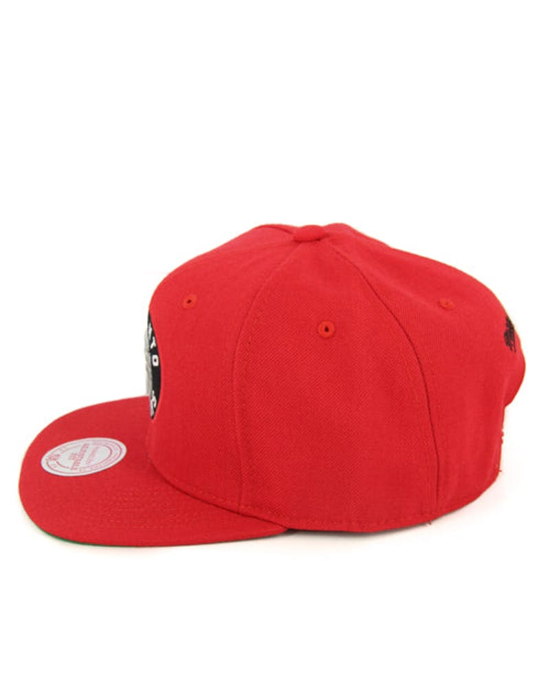 Raptors Wool Solid Snapback Red/black