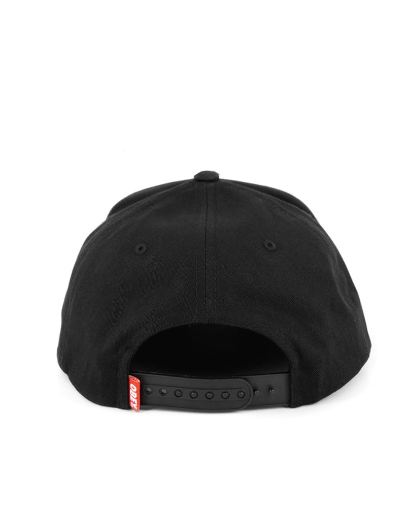 Star Patch Snapback Black