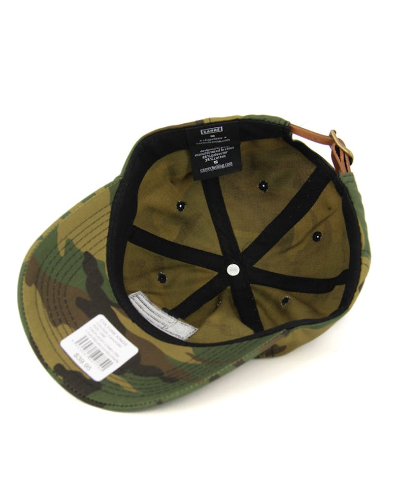 C Flag Precurv Leather Strapbk Camo