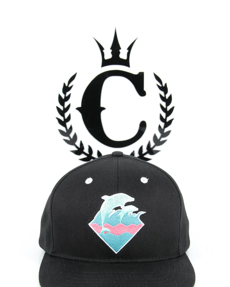Spring Waves Snapback Black