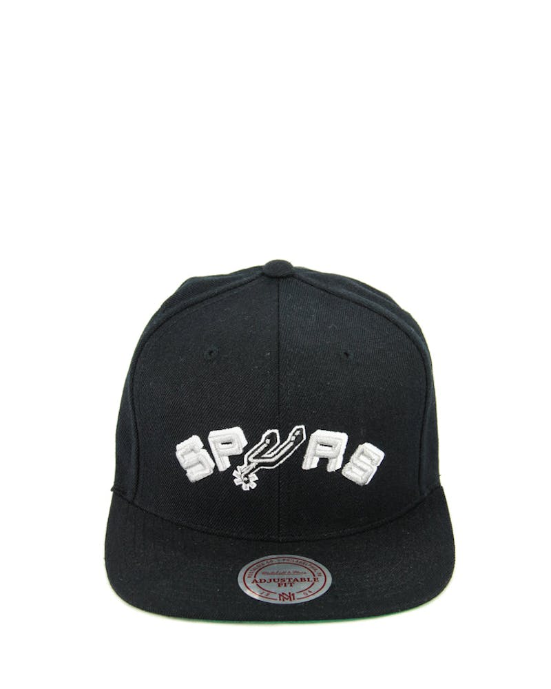 Mitchell & Ness San Antonio Wool Solid Snapback Black