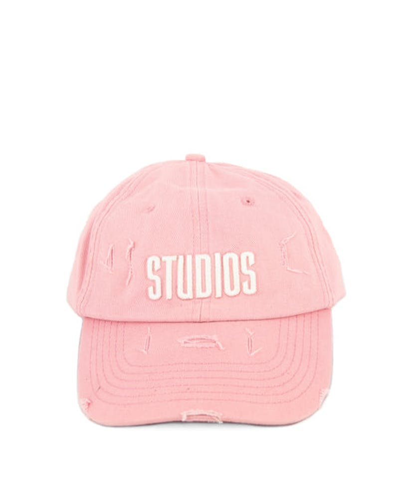 Distressed Candy Strapback Pink