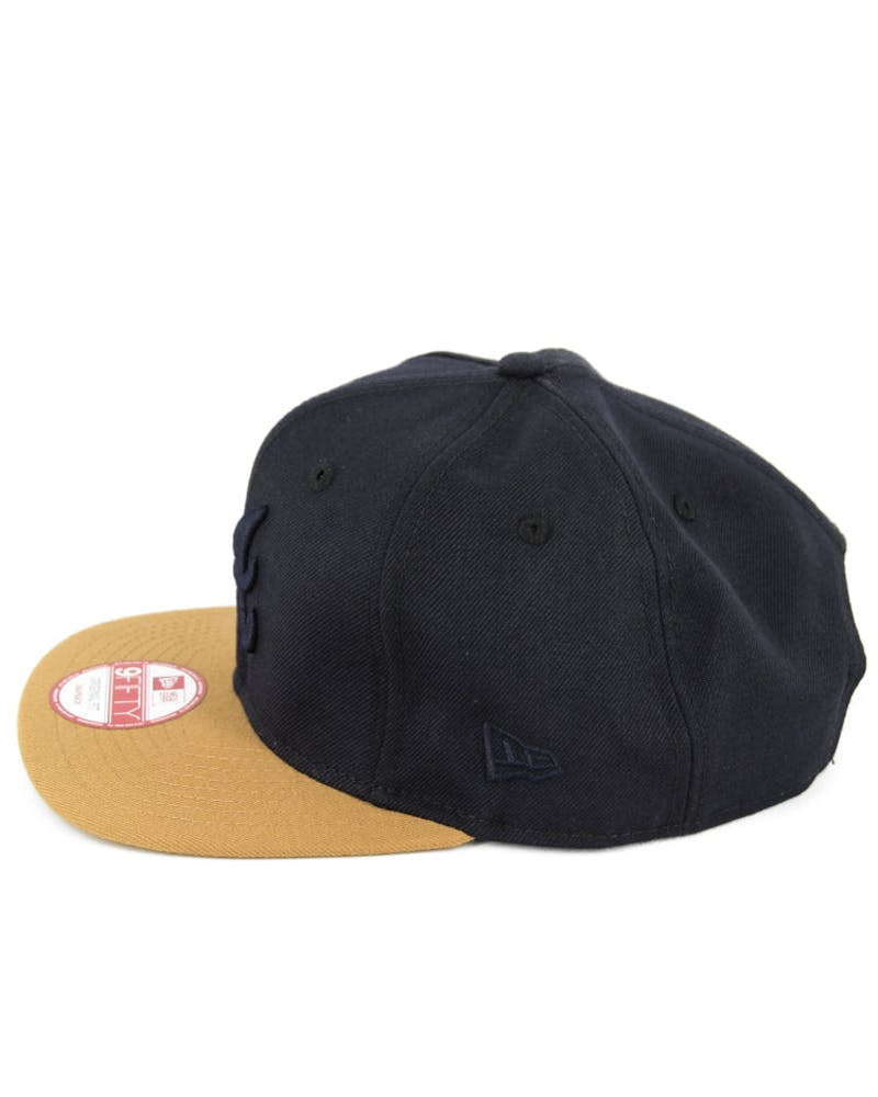 Braves Original Fit Snapback Navy/tan
