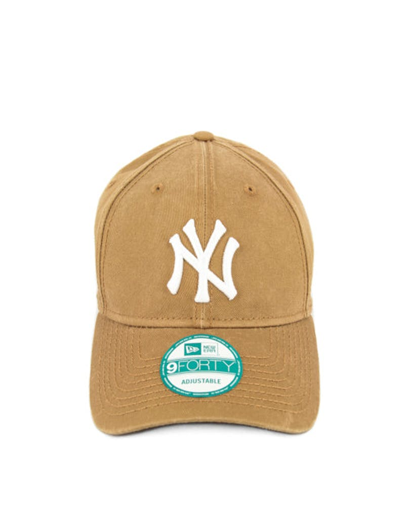 New Era Yankees Washed 9FORTY Strapback Wheat/white