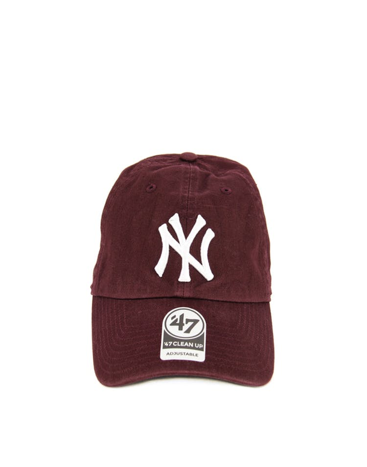 Yankees Clean up Strapback Burgundy