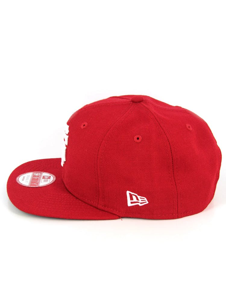 Braves Original Fit Snapback Scarlet/white