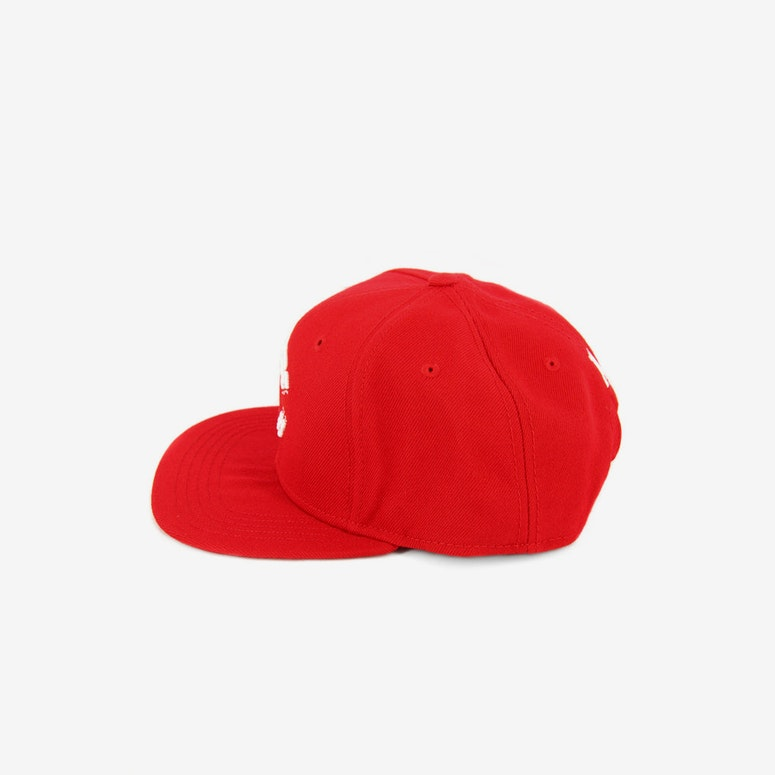 Chain C Snapback Red/white
