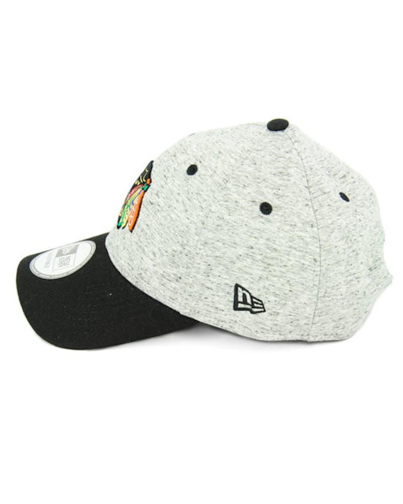 New Era Blackhawks Team Rogue 9FORTY Snapback Heather Grey/bl