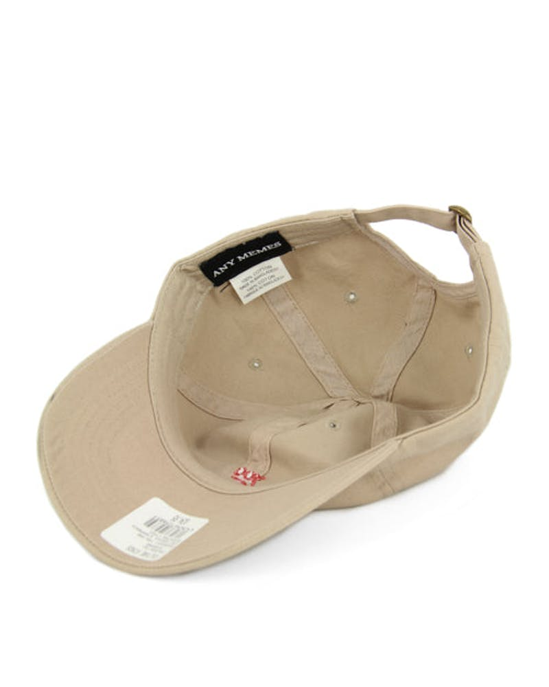 100 Curved Strapback Tan