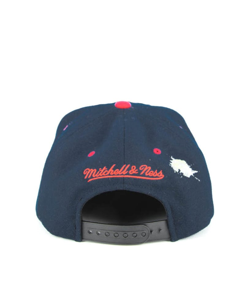 M&n New York 86z Snapback Navy/red