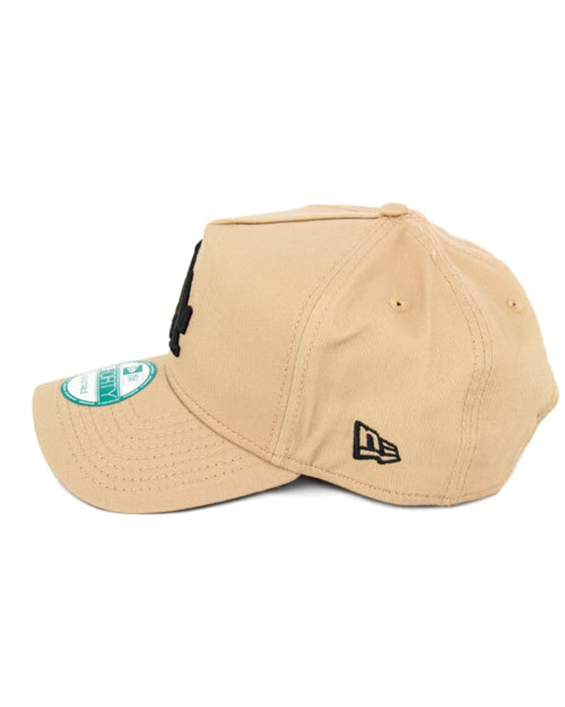 New Era Dodgers 9FORTY A-Frame Snapback Camel/black