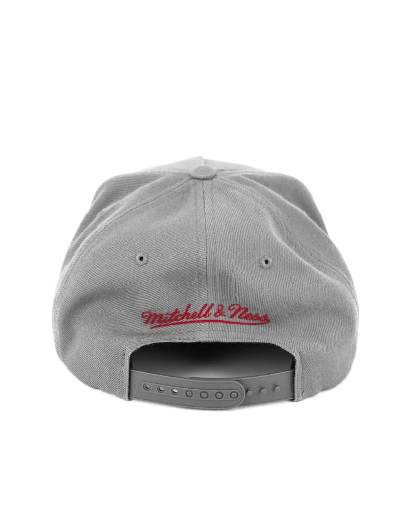 Flag Logo Pinch Panel Snapback Charcoal/burgun