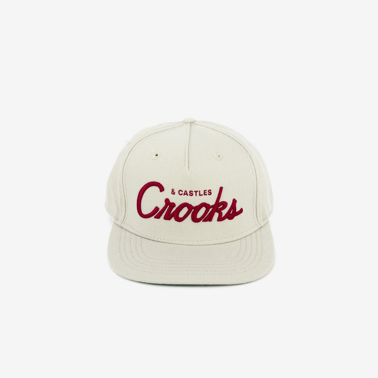 Team Crooks Snapback Natural/red