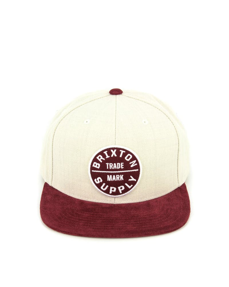 Oath Lii Snap Back Cream/burgundy