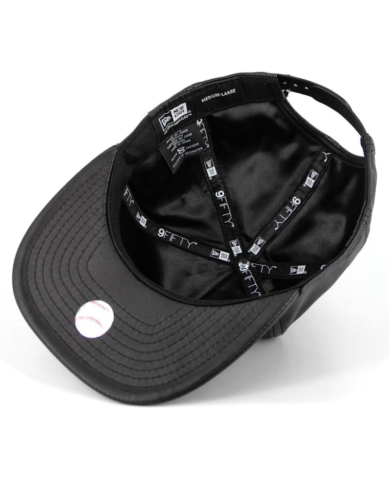 San Francisco Giants PU Leather Snapback Black/white