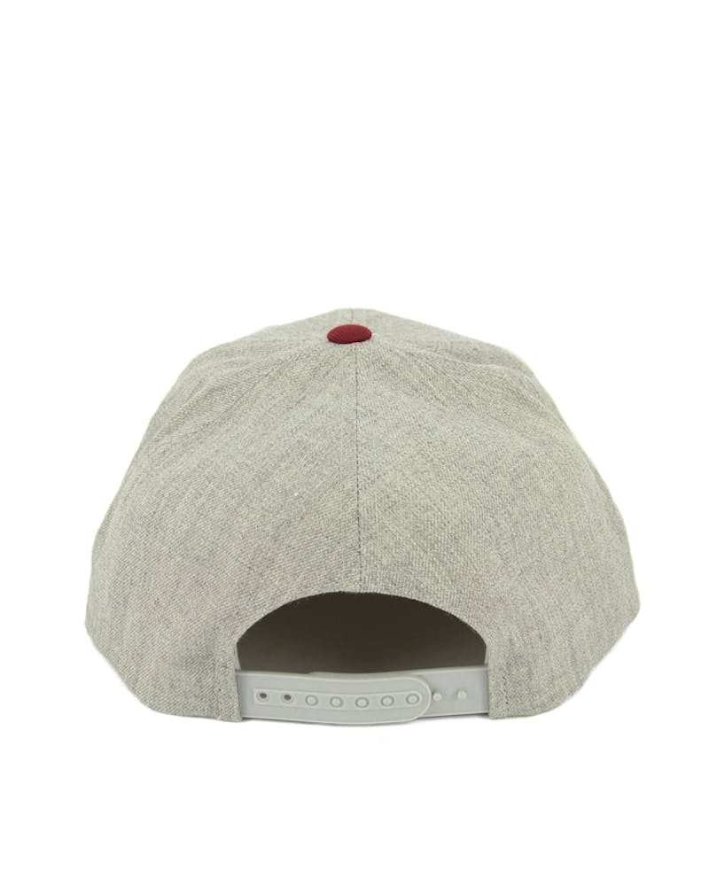 Gaston Snapback Grey/burgundy