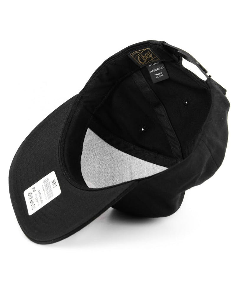 Circle Patch 2 Snapback Black