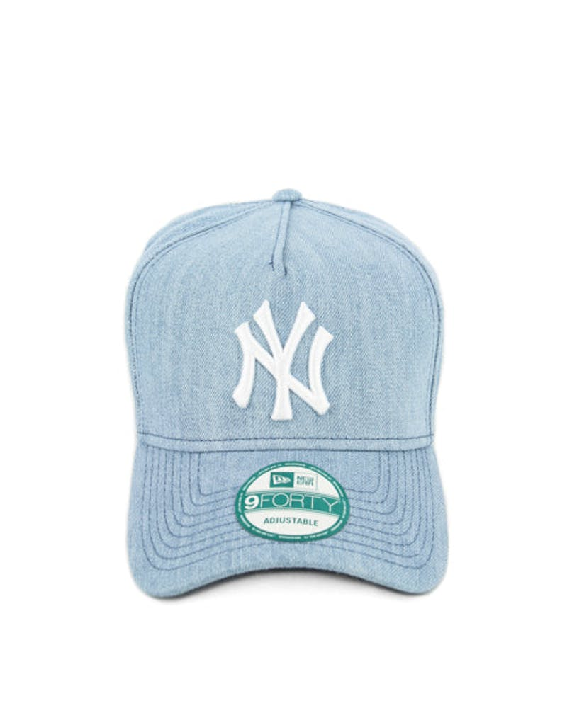 New Era Yankees 9FORTY A-Frame Washed Snapback Indigo