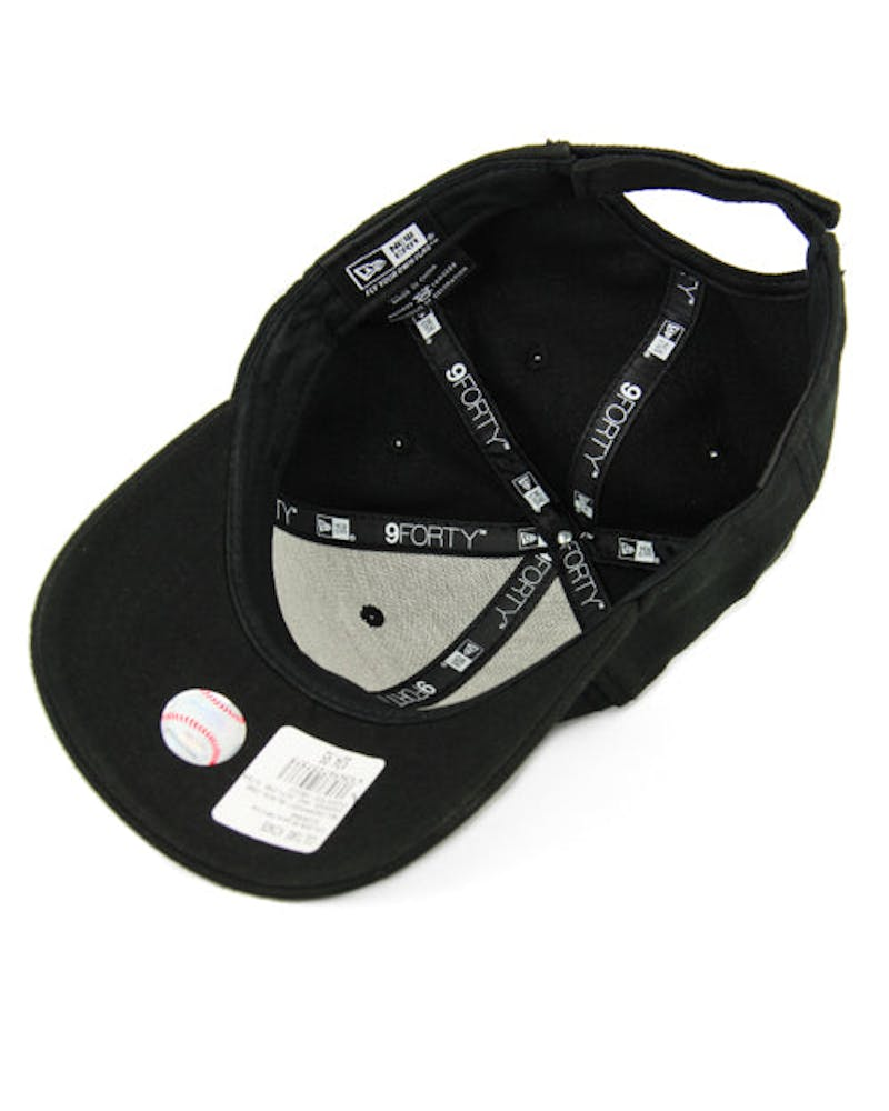 New Era Dodgers 9FORTY Outline Strapback Black/white