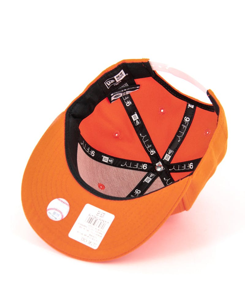 Yankees Youth Snapback Orange/white