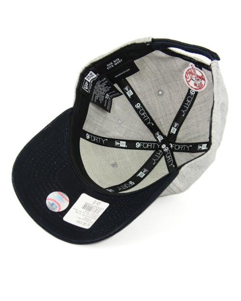 New Era Yankees 9FORTY Velcro Back Grey/navy